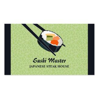 Cartão de negócio da restauração do bar de sushi cartão de visita