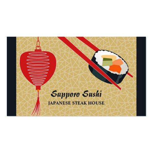 Cartão de negócio da restauração do bar de sushi cartao de visita