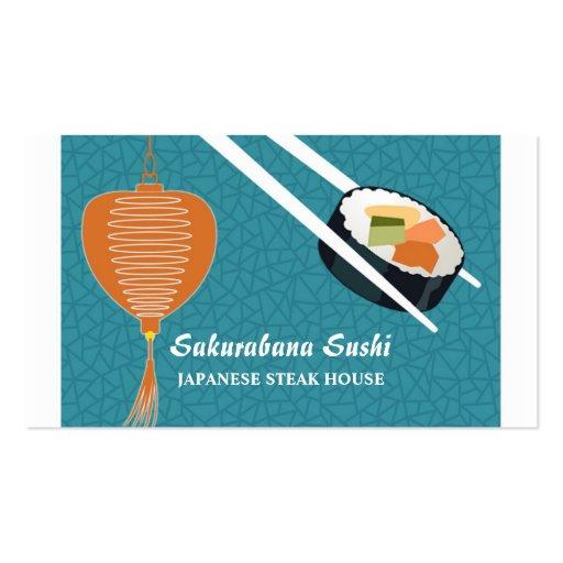Cartão de negócio da restauração do bar de sushi cartoes de visita