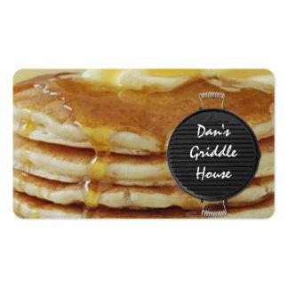 cartão de negócio da restauração do pequeno almoço cartão de visita