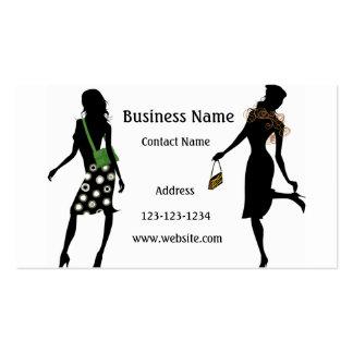 Cartão de negócio de retalho fabuloso da forma cartoes de visita