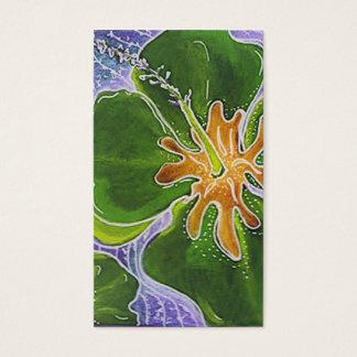 Cartão de negócio floral do hibiscus colorido