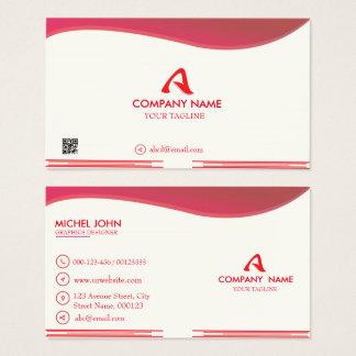 Cartão de negócio Vermelho-Incorporado