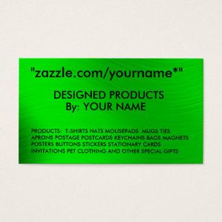 """CARTÃO de NEGÓCIO zazzle.com/yourname* de ZAZZLE """""""