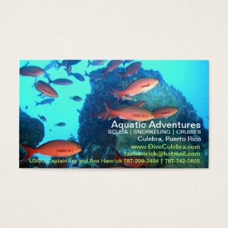 Cartão de negócios aquático das aventuras!