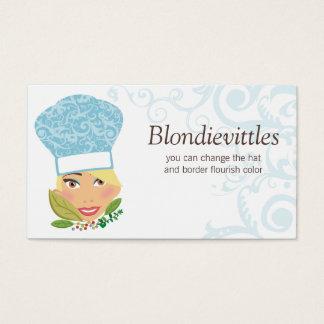 Cartão de negócios chique louro das ervas do