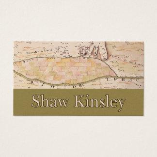 Cartão de negócios customizável de Kinsley