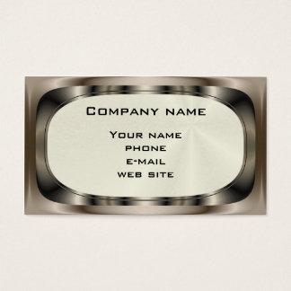 Cartão de negócios de aço brilhante do ~