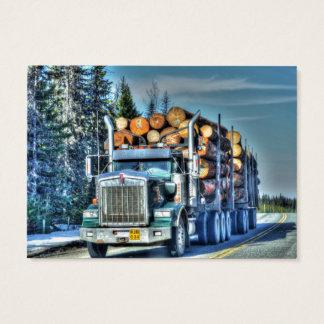 Cartão de negócios de registo do caminhão de