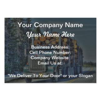 Cartão de negócios de registo do caminhão de cartão de visita grande