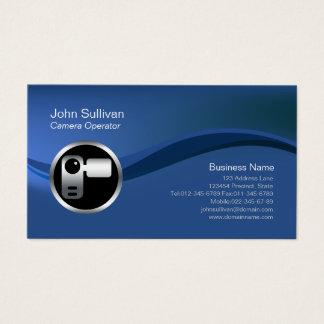 Cartão de negócios de Videographer do ícone da