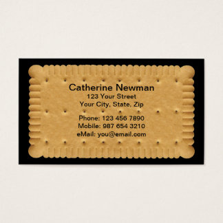 Cartão de negócios do biscoito
