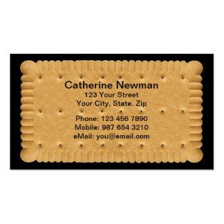 Cartão de negócios do biscoito cartão de visita