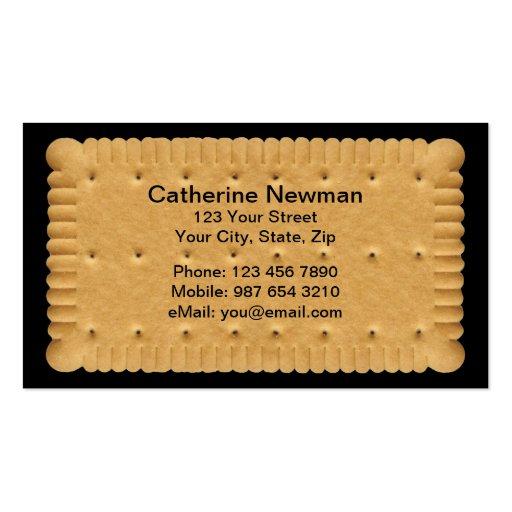 Cartão de negócios do biscoito modelos cartoes de visita