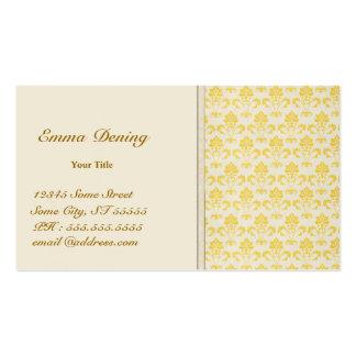 Cartão de negócios do damasco do vintage cartão de visita