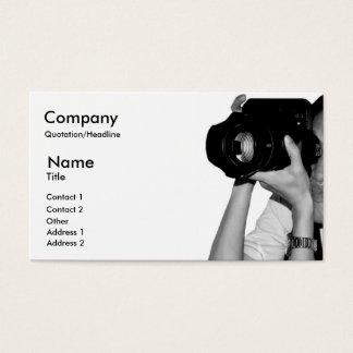 Cartão de negócios do jornalista fotográfico