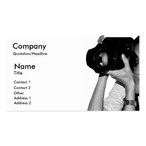 Cartão de negócios do jornalista fotográfico cartão de visita