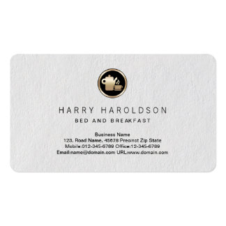 Cartão de negócios do prêmio do pequeno almoço da cartão de visita