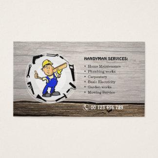 Cartão de negócios para serviços do trabalhador