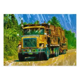 Cartão de negócios pesado do transporte de Camioni Cartões De Visitas