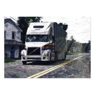Cartão de negócios pesado do transporte de Camioni Modelos Cartão De Visita