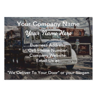 Cartão de negócios pesado do transporte de cartão de visita grande