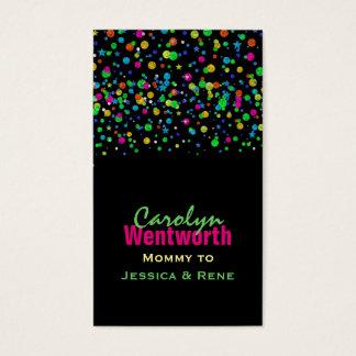 Cartão de néon colorido dos trabalhos em rede das