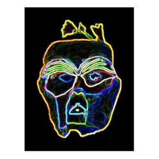 Cartão de néon da máscara