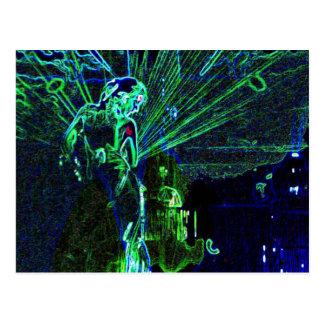 Cartão de néon do dançarino