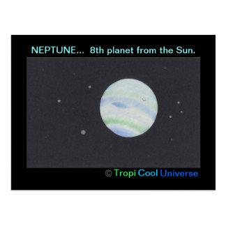 Cartão de NETUNO do planeta