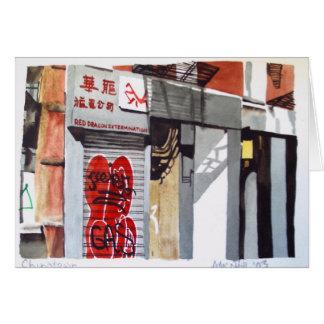 Cartão de New York Chinatown