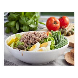 Cartão de Nicoise da salada