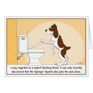 Cartão de nivelamento do Spaniel de Springer