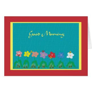 Cartão de nota alegre do bom dia
