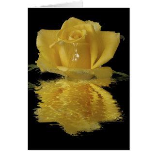 Cartão de nota amarelo do vazio da reflexão da