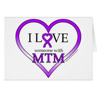 Cartão de nota - amor de I alguém com MTM