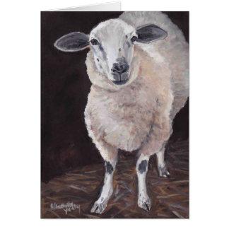 Cartão de nota animal da arte dos carneiros