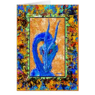 Cartão de nota azul velho