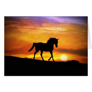 Cartão de nota bonito do vazio da arte do cavalo