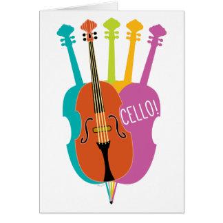 Cartão de nota colorido dos instrumentos musicais
