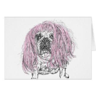 Cartão de nota cor-de-rosa da celebração do