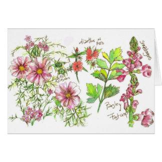 Cartão de nota cor-de-rosa do vazio do jornal de