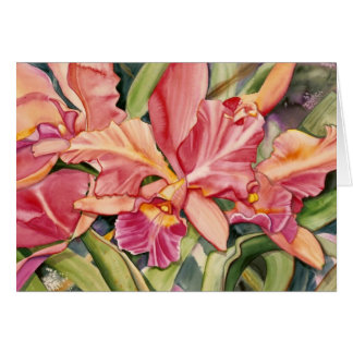 cartão de nota coral 2,95 da orquídea
