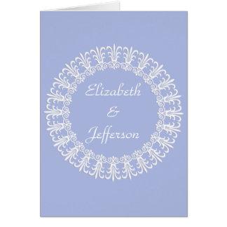 Cartão de nota customizável de Wedgewood Blue1