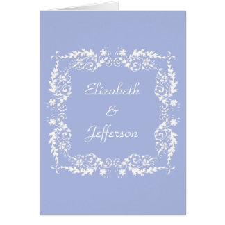 Cartão de nota customizável do azul 2 de Wedgewood