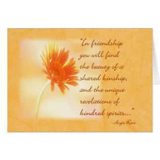Cartão de nota da amizade