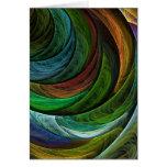 Cartão de nota da arte abstracta da glória da cor