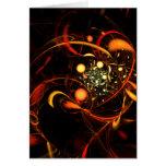 Cartão de nota da arte abstracta da pulsação do co