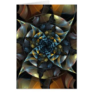 Cartão de nota da arte abstracta do Pinwheel
