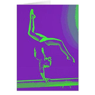 Cartão de nota da boa sorte do Gymnast